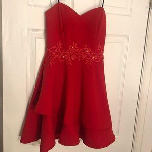 Red short dress!